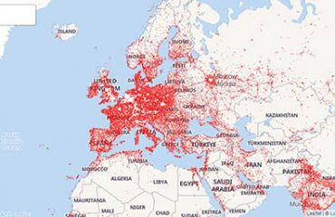 online Database of EM / RF trasmiting Cell Towers