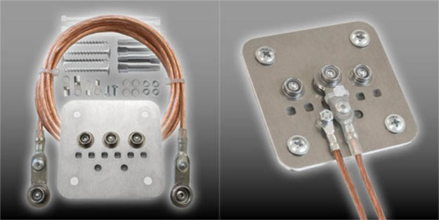 electric grounding for emf shielding