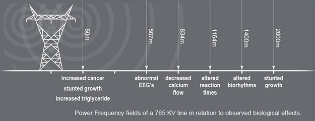 safety distance from radiations