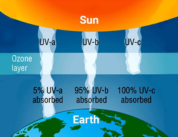 UVA, UVB, UVC - Solar ultraviolet spectrum